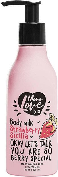 Lait à l'extrait de fraise pour corps - MonoLove Bio Strawberry Sicilia Body Milk