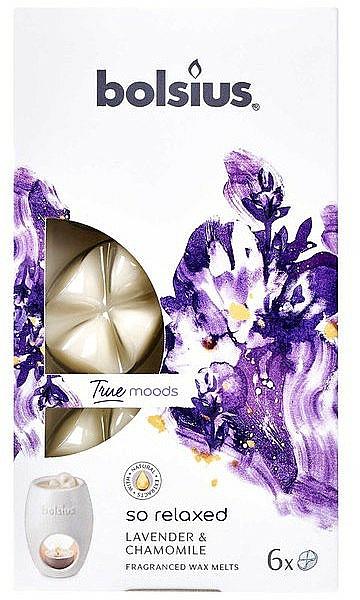 Fondants de cire parfumée, Lavande et Camomille - Bolsius True Moods So Relaxed Lavender & Chamomile