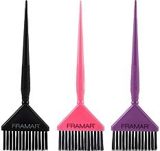 Parfums et Produits cosmétiques Set de pinceaux de coloration cheveux, noir, rose, violet - Framar Big Daddy Brush Set