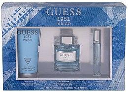 Parfums et Produits cosmétiques Guess 1981 Indigo for Women - Coffret femme (eau de toilette/100ml + émulsion corporelle/200 + vaporisateur de voyage/15ml)