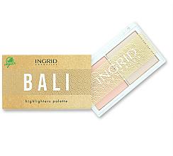 Parfums et Produits cosmétiques Palette de highlighters pour visage - Ingrid Cosmetics Bali Highlighters Palette