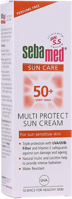 Crème solaire hypoallergénique pour corps - Sebamed Multi Protect Sun Cream SPF 50 — Photo N2