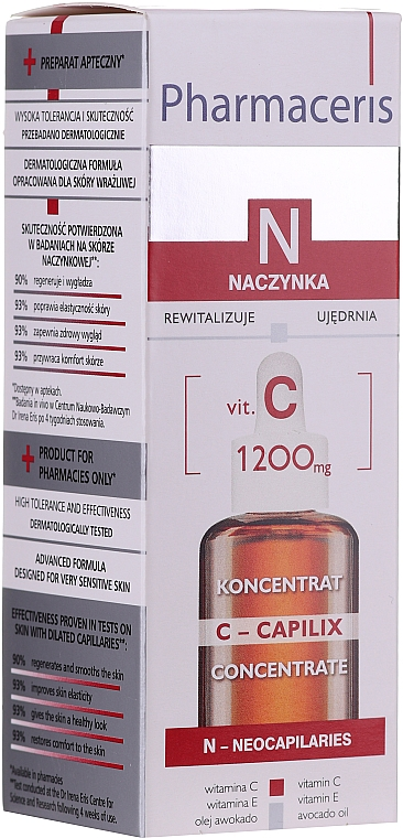 Sérum à la vitamine C et huile de colza pour visage - Pharmaceris N Serum with Vit. C 1200mg Strengtening and Smoothing
