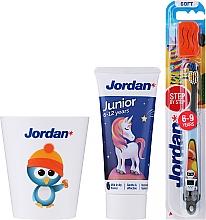 Parfums et Produits cosmétiques Jordan Junior - Set, Pingouin 2 (dentifrice/50ml + brosse à dents/1pcs + tasse)
