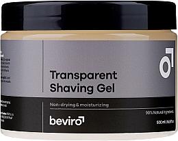Parfums et Produits cosmétiques Gel de rasage transparent - Beviro Transparent Shaving Gel