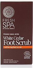 Parfums et Produits cosmétiques Scrub à l'extrait de cèdre blanc pour pieds - Natura Siberica Fresh Spa Russkaja Bania Detox White Cedar Foot Scrub