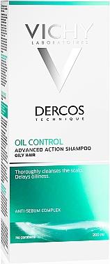 Anti-sebum complex - Vichy Dercos Oil Control Treatment Shampoo — Photo N4