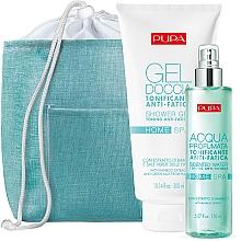 Parfums et Produits cosmétiques Coffret cadeau - Pupa Home Spa Anti-Fatigue Bamboo Extract (sh/gel/300ml + aroma/water/150ml)