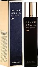 Parfums et Produits cosmétiques Émulsion à la bave d'escargot noir pour visage - Holika Holika Prime Youth Black Snail Repair Emulsion