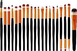 Parfums et Produits cosmétiques Set pinceaux de maquillage, 20 pcs, noir et or - Lewer