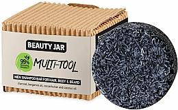 Parfums et Produits cosmétiques Shampooing solide au charbon pour cheveux, corps et barbe - Beauty Jar Multi-Tool Men Shampoo Bar For Hair, Body & Beard