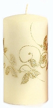 Parfums et Produits cosmétiques Bougie décorative, crème, 7x14 cm - Artman Amelia
