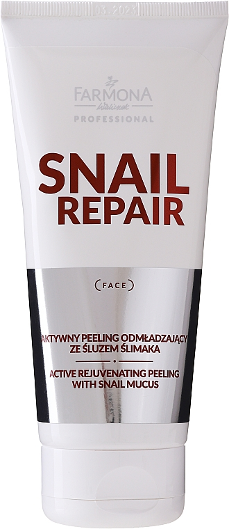 Gel exfoliant à la bave d'escargot pour visage - Farmona Professional Snail Repair Active Rejuvenating Peeling With Snail Mucus