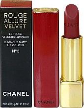 Parfums et Produits cosmétiques Rouge à lèvres - Chanel Rouge Allure Velvet Luminous Matte Lip Color Collection Libre