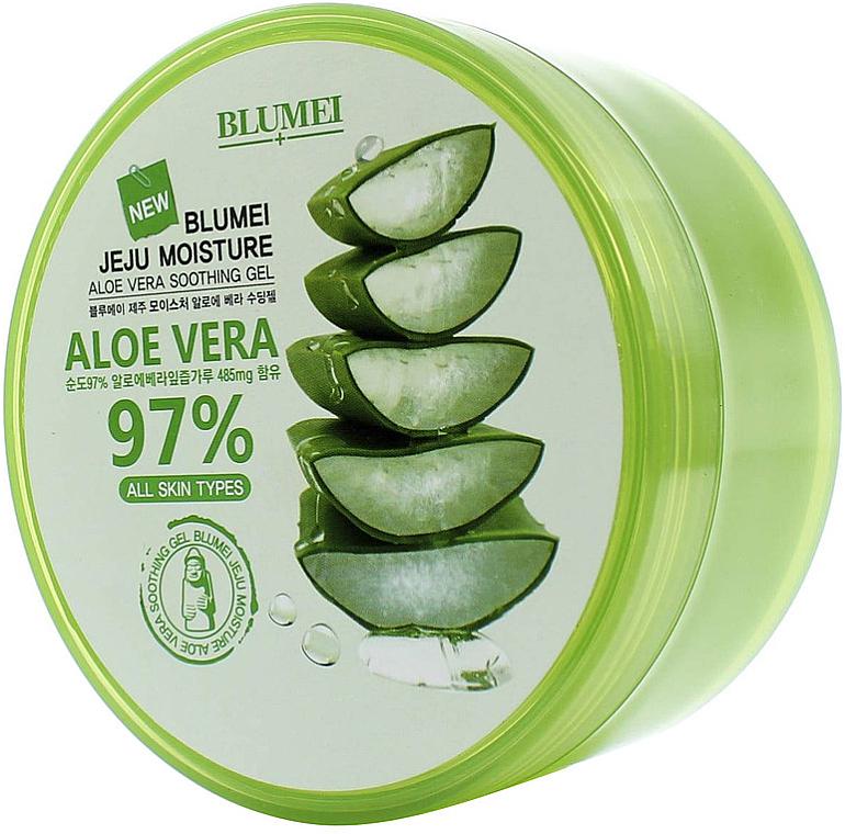 Gel apaisant à l'aloe vera - Blumei Jeju Moisture Aloe 97% Soothing Gel — Photo N1