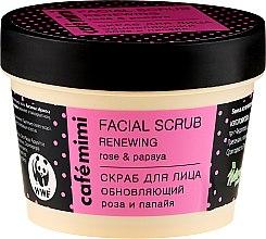 Parfums et Produits cosmétiques Gommage régénérant pour visage, Rose et Papaye - Cafe Mimi Facial Scrub Renewing