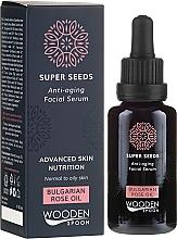 Parfums et Produits cosmétiques Sérum à l'huile de rose de Bulgarie pour visage - Wooden Spoon Super Seeds Bulgarian Rose Oil Anti-aging Facial Serum