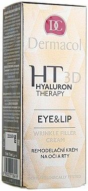 Crème à l'acide hyaluronique pour le contour des yeux et des lèvres - Dermacol Hyaluron Therapy 3D Eye and Lip Wrinkle Filler Cream
