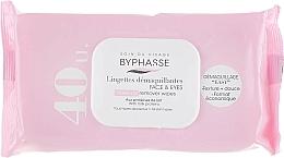 Parfums et Produits cosmétiques Lingettes démaquillantes pour visage et yeux, 40pcs - Byphasse Make-up Remover Wipes Milk Proteins All Skin Types