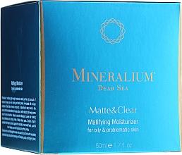 Parfums et Produits cosmétiques Soin à l'acide hyaluronique pour visage - Mineralium Dead Sea Matte & Clear Matifying Moisturizer For Oily&Problemaic Skin