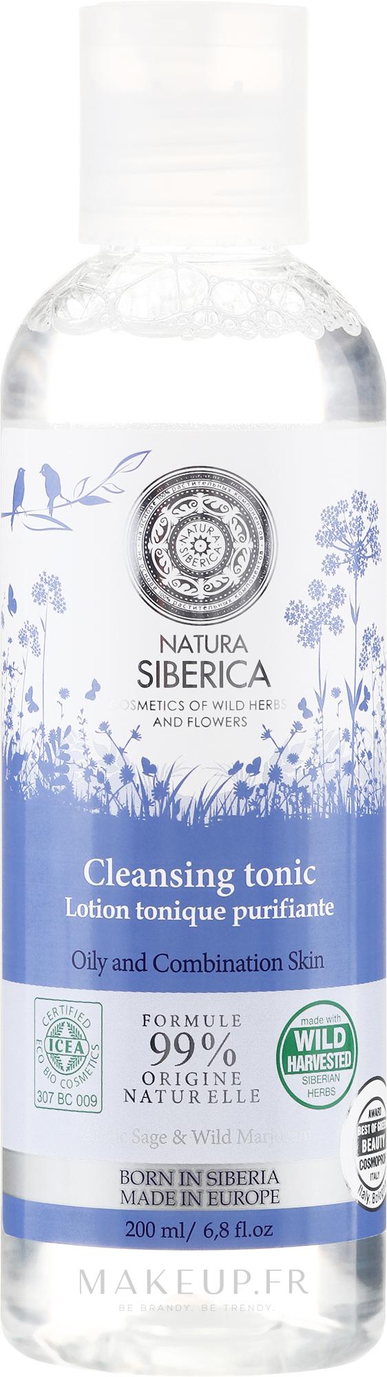 Lotion tonique à l'extrait de marjolaine sauvage - Natura Siberica — Photo 200 ml