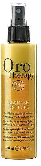 Après-shampooing bi-phase à la kératine - Fanola Oro Therapy