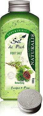 Sels de bain détoxifiants au genévrier et pin pour pieds - Naturalis Sel de Pied Juniper And Pine Foot Salt