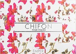 Parfums et Produits cosmétiques Emper Chifon - Set (eau de parfum/100 ml + déodorant spray/200 ml + lotion pour corps/100 ml)