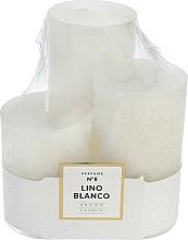 Parfums et Produits cosmétiques Bougies parfumées - Artman Glass Classic Perfume №8 Lino Blanco Candle (candle/3pc)