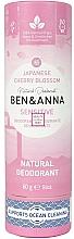 Parfums et Produits cosmétiques Déodorant Fleurs de cerisier - Ben&Anna Natural Natural Deodorant Sensitive Japanese Blossom