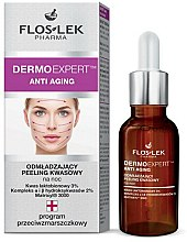 Parfums et Produits cosmétiques Soin de nuit éclaircissant et exfoliant aux acides pour visage - Floslek Dermo Expert Anti Aging Peeling