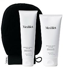 Parfums et Produits cosmétiques Medik8 Smooth Body Exfoliating Kit - Set (gommage pour corps/150ml + lotion exfoliante pour corps/200ml + gant)