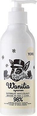Baume à la vanille, huile de noix de coco et d'argan pour mains et corps - Yope Vanilla & Cinnamon Hand And Body Lotion