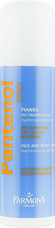 Mousse régénérante et apaisante au jus d'aloe vera pour visage et corps - Farmona Panthenol Face and Body Foam in Spray Sunburns — Photo N1