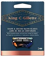 Parfums et Produits cosmétiques Lames de rechange pour rasoir - Gillette King C.