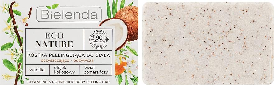 Savon-gommage à la vanille pour corps - Bielenda Eco Nature Body Peeling Bar Vanilla Coconut Milk Orange