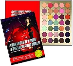 Parfums et Produits cosmétiques Palette de fards à paupières, 35 couleurs - Rude Rudementary Speyeshadows