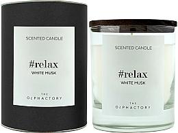 Parfums et Produits cosmétiques Bougie parfumée, Musc blanc, design noir - Ambientair The Olphactory Relax White Musk Black Design