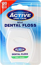 Parfums et Produits cosmétiques Fil dentaire ciré goût menthe,100m - Beauty Formulas Active Oral Care Dental Floss Mint Waxed 100m