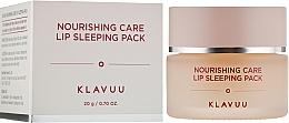 Parfums et Produits cosmétiques Masque de nuit pour lèvres - Klavuu Nourishing Care Lip Sleeping Pack