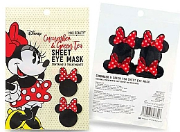 Parfums et Produits cosmétiques Masque tissu au thé vert et concombre pour contour des yeux - Mad Beauty Disney Minnie Mouse Sheet Eye Mask
