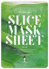Parfums et Produits cosmétiques Masque tissu en tranches à l'extrait d'aloe vera pour visage - Kocostar Slice Mask Sheet Aloe