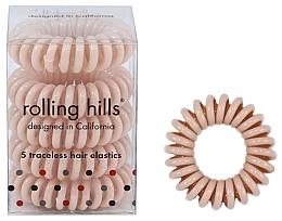 Parfums et Produits cosmétiques Élastiques à cheveux, beige - Rolling Hills 5 Traceless Hair Rings Beige