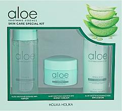 Parfums et Produits cosmétiques Holika Holika Aloe - Coffret soin (tonique /50ml + émulsion /50ml + crème/20ml)