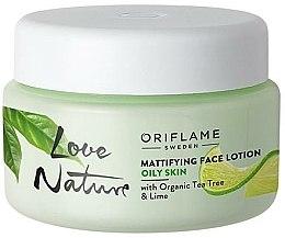Parfums et Produits cosmétiques Crème matifiante à l'arbre à thé et citron vert pour visage - Oriflame Love Nature Mattifyng Face Lotion
