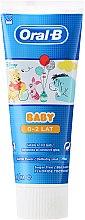 Parfums et Produits cosmétiques Dentifrice au fluor pour enfants de 0 à 2 ans - Oral-B Baby Winnie Pooh Toothpaste
