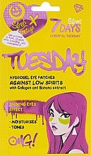 Parfums et Produits cosmétiques Patchs hydrogel au collagène et extrait de banane pour contour des yeux - 7 Days Cheerful Tuesday Hydrogel Eye Patches