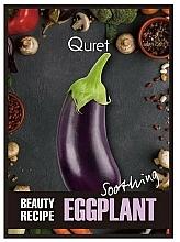 Parfums et Produits cosmétiques Masque tissu à l'extrait d'aubergine pour visage - Quret Beauty Recipe Mask Eggplant Soothing