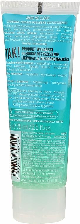 Gommage aux éclats de coco et extrait de bambou pour visage - Lirene Make Me Clean! Peeling — Photo N2
