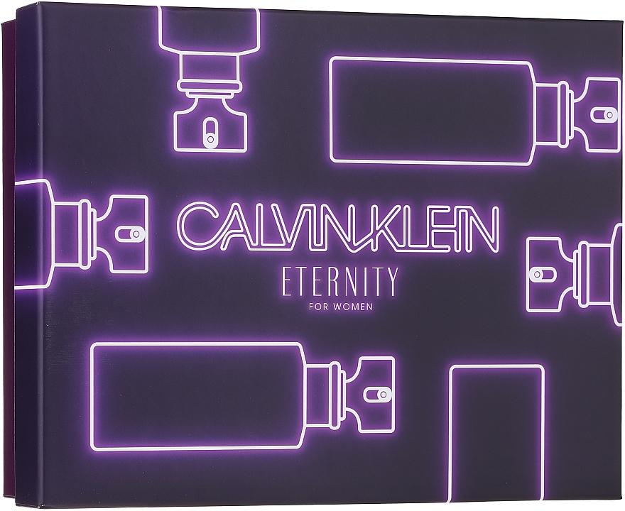 Calvin Klein Eternity For Woman - Coffret (eau de parfum/100ml + eau de parfum/10ml + lait corporel/100ml)